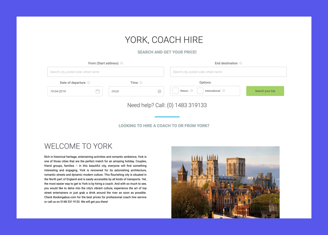 York Coach Hire